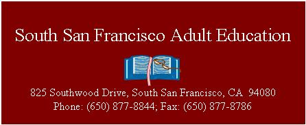 South San Francisco Adult Education Home