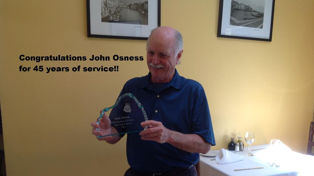 John Osness-45 years of service