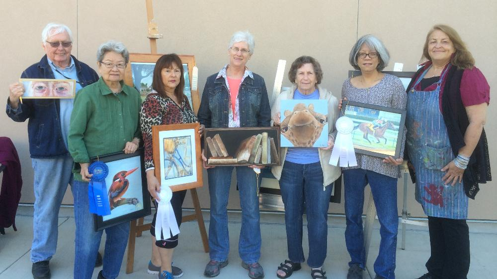SSF Adult Ed Art Class winners at 2014 SM County Fair