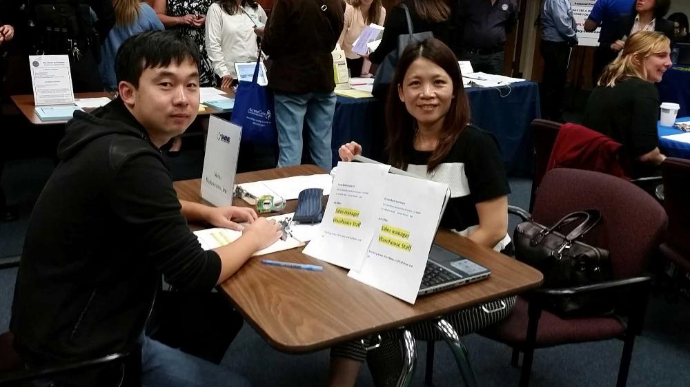 ESL class at SSF Job Fair
